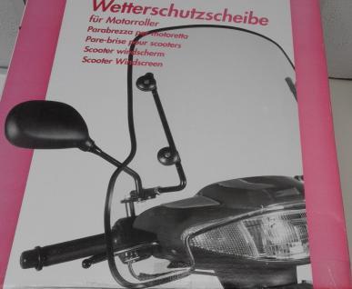 Wetter schutz scheibe Motorroller+ Motorrad Mofa - Vorschau 2