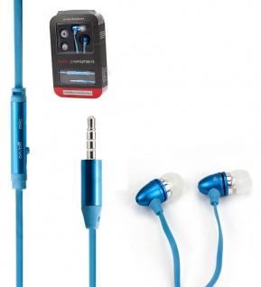 Metall Stereo HEAD SET blau mit Laut stärke tasten 3, 5 mm- 1, 2 Meter