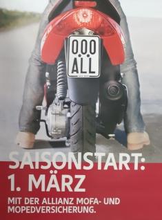 Moped Kenn zeichen 2020/ 2021 Schild für Mofa Elektro- Roller Segway Quad