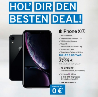iPhone XR Smart phone 64 GB+ LTE 3GB Mobilfunk vertrags angebot