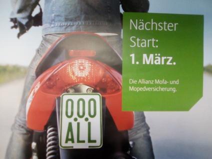 Moped Schild 2018 / 2019 für Mofa Roller SegwayQuad