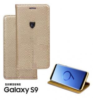 Tasche Book style für Samsung Galaxy S9 gold