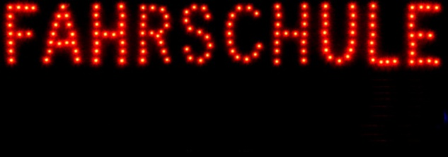 FAHRSCHULE LED Werbe Leucht reklame 70x30 cm Display - Vorschau 2