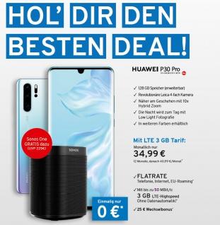 Huawei P30+ Flatrate mit 3GB LTE Highspeed Vertrag