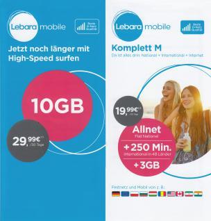 Prepaid Karte mit bis 50 GB Internet; kostenfrei telefonieren in D-Netz Qualität