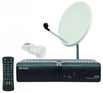 Satelliten empfangs anlage DVBS Receiver Schüssel für Camping oder zuHause