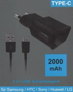 TYP- C Schnellade SET mit Lade Kabel+ 2 A Adapter
