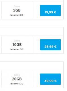 Prepaid Karte mit bis 50 GB Internet; kostenfrei telefonieren in D-Netz Qualität - Vorschau 3