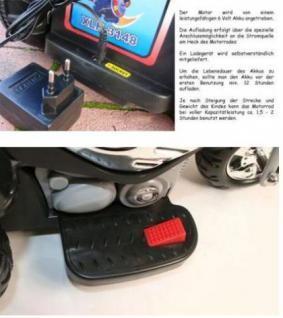 Elektro Motor- Dreirad für Kinder mit Hupe und Akku - Vorschau 3