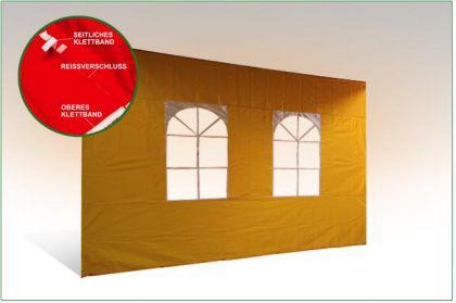 Seiten wand 3m MIT FENSTER für Messe Faltzelt 3x3m Pavillon