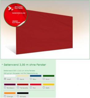 Seiten wand 3m OHNE FENSTER für Messe Faltzelt 3x3m Pavillon - Vorschau 3