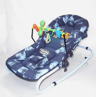 Zekiwa Baby Wippe Sitz mit Spiel bügel Farbe blau