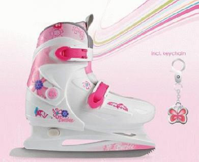 Barbie Kinder Schlitt Schuh Ice Skates 30- 33 - Vorschau 1