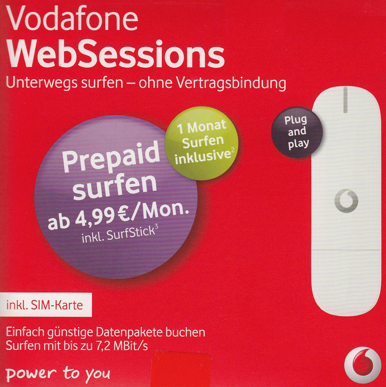 vodafone.de aufladen online