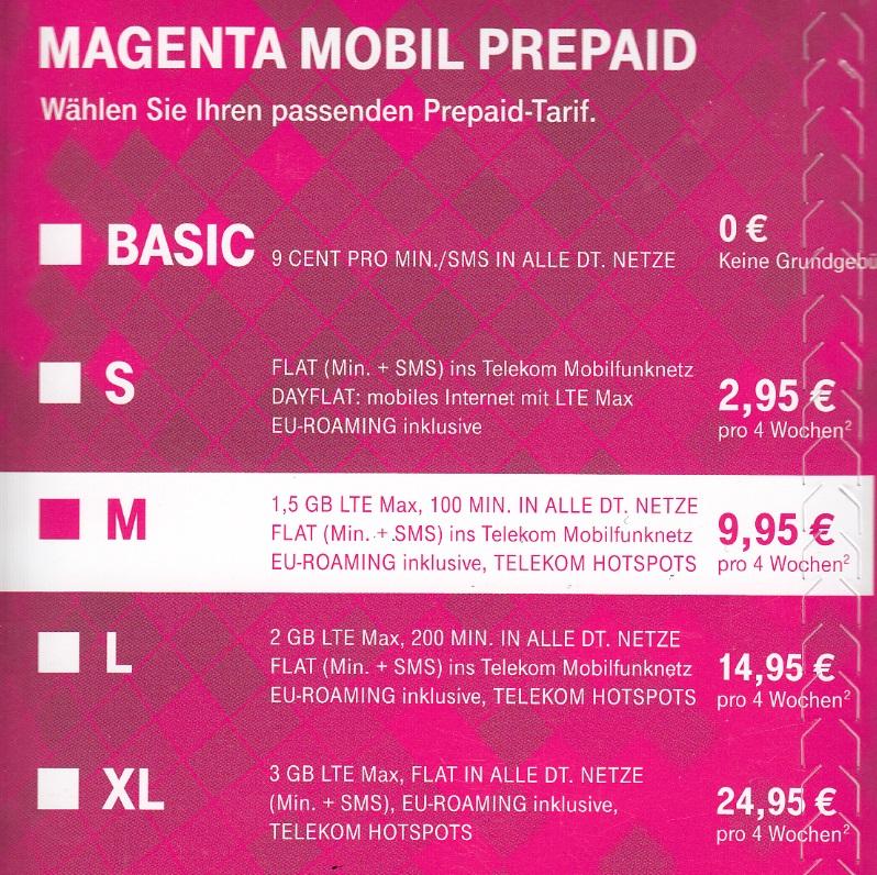 telekom prepaid tarif