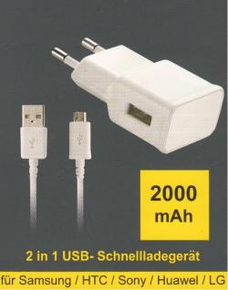 Micro- USB Lade + Daten kabel SET mit Adapter