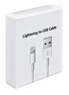 Lightning USB Datenkabel für iPhone im Blister 1 Meter weiß