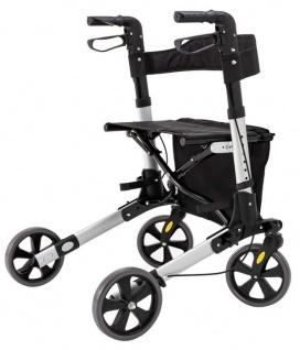 Rollator, voll klappbar, Höhe verstellbar, Geh hilfe mit Tasche und Stockhalter