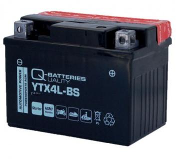 Roller Batterie YB4LB für Kraft rad Mofa YTX4L wartungsfrei und vorgeladen