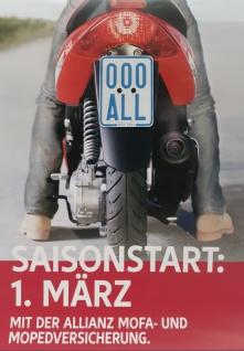 Moped Kenn zeichen 2021/ 2022 Schild für Mofa Elektro+ Steh Roller Segway MicroCar