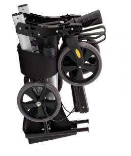 Rollator, voll klappbar, Höhe verstellbar, Geh hilfe mit Tasche und Stockhalter - Vorschau 2