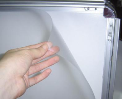 Kundenstopper FOLIE A1 Antireflex mit Wasserablauf - Vorschau 3