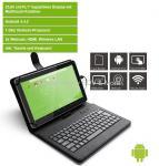 Tablet 10 Zoll Android Pocket- PC mit Tastatur und Tasche