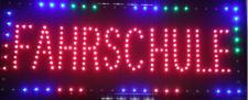 FAHRSCHULE LED Werbe Leucht reklame 70x30 cm Display