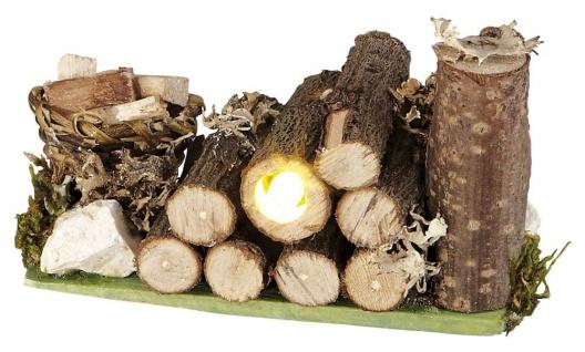 Holzlager mit LED-Beleuchtung