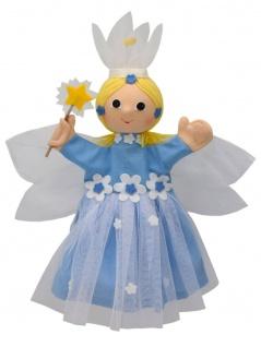 Handpuppe Blumenfee blau, 35cm