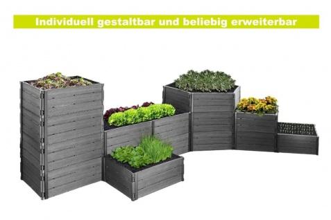 Hochbeet oder Komposter in Anthrazit