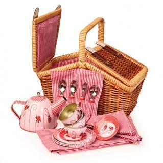 Kaffee-Tee-Service im Korb