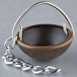 Kupferkessel für Krippen, Hobby- und Modellbau, 10 mm, mit Kette
