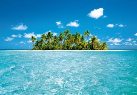 Fototapete Malediven, Inseln mit Palmen im Meer