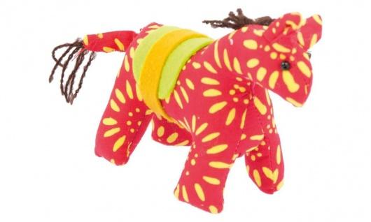 Stofftier Kuschelfreund Pferd, rot