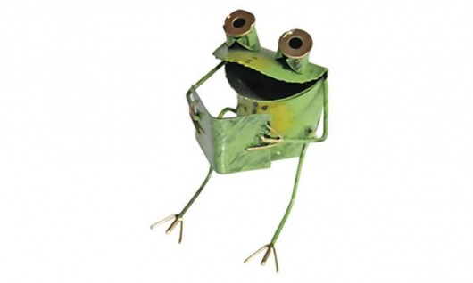 Metallfigur Frosch Fridolin