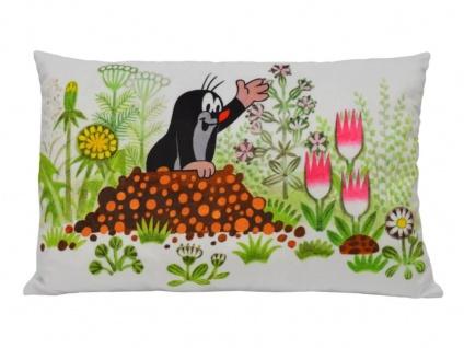 Kissen der kleine Maulwurf, Motiv Hügel, 45 x 30 cm - Kinderkissen