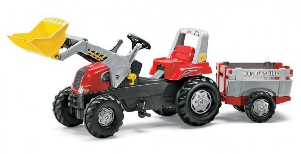 Trettraktor rollyJunior RT, mit Lader und FarmTrailer