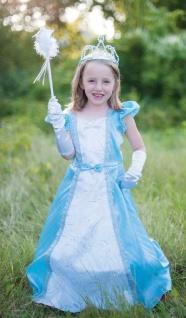 Prinzessinnen-Kleid mit Reifrock, Grösse S/M Farbe blau
