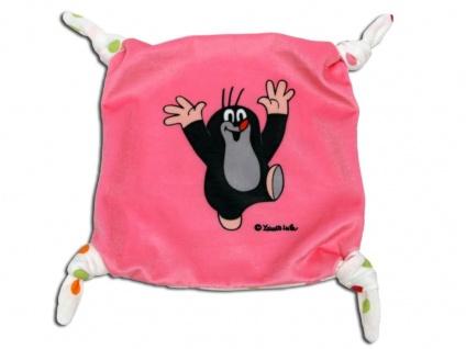 Der kleine Maulwurf - Schmusetuch, rosa - Schnuffeltuch