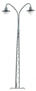 Gittermastlampe Spur H0, 2 flammig, 135mm