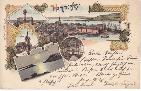 Ansichtskarte Hammerfest Brevkort, ein altes Original