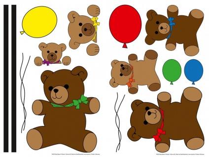 Wandtattoo Teddy, für Kinderzimmer, selbstklebend