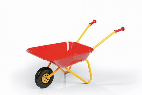 Kinderschubkarre mit Metallschüssel Schüssel rot - Vorschau