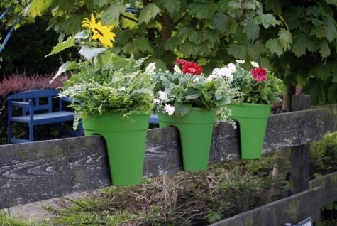 Flowerclip Blumentöpfe, 3er Set, grün