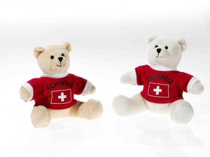 EM-Bärchen mit Shirt Schweiz, 1 Stück, sortierte Ware