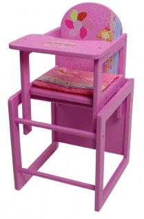 Puppenhochstuhl für Puppen My little Princess pink