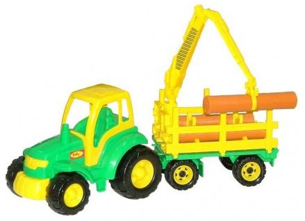 Traktor Champion mit Holzfrachter