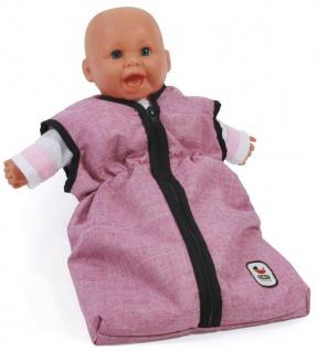 Puppen-Schlafsack, Jeans pink