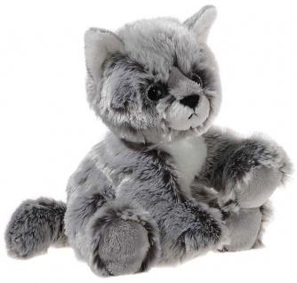 GLITTER-KITTY Katzen-Baby, graumeliert Grösse 20 cm - Vorschau